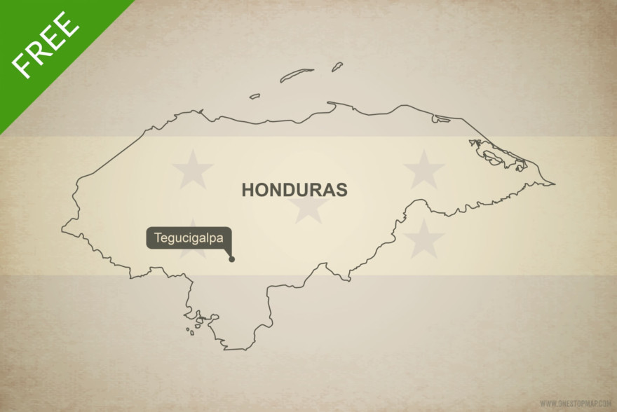 Free vector map of Honduras outline
