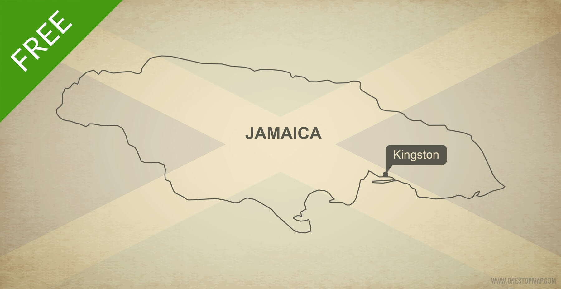Free vector map of Jamaica outline