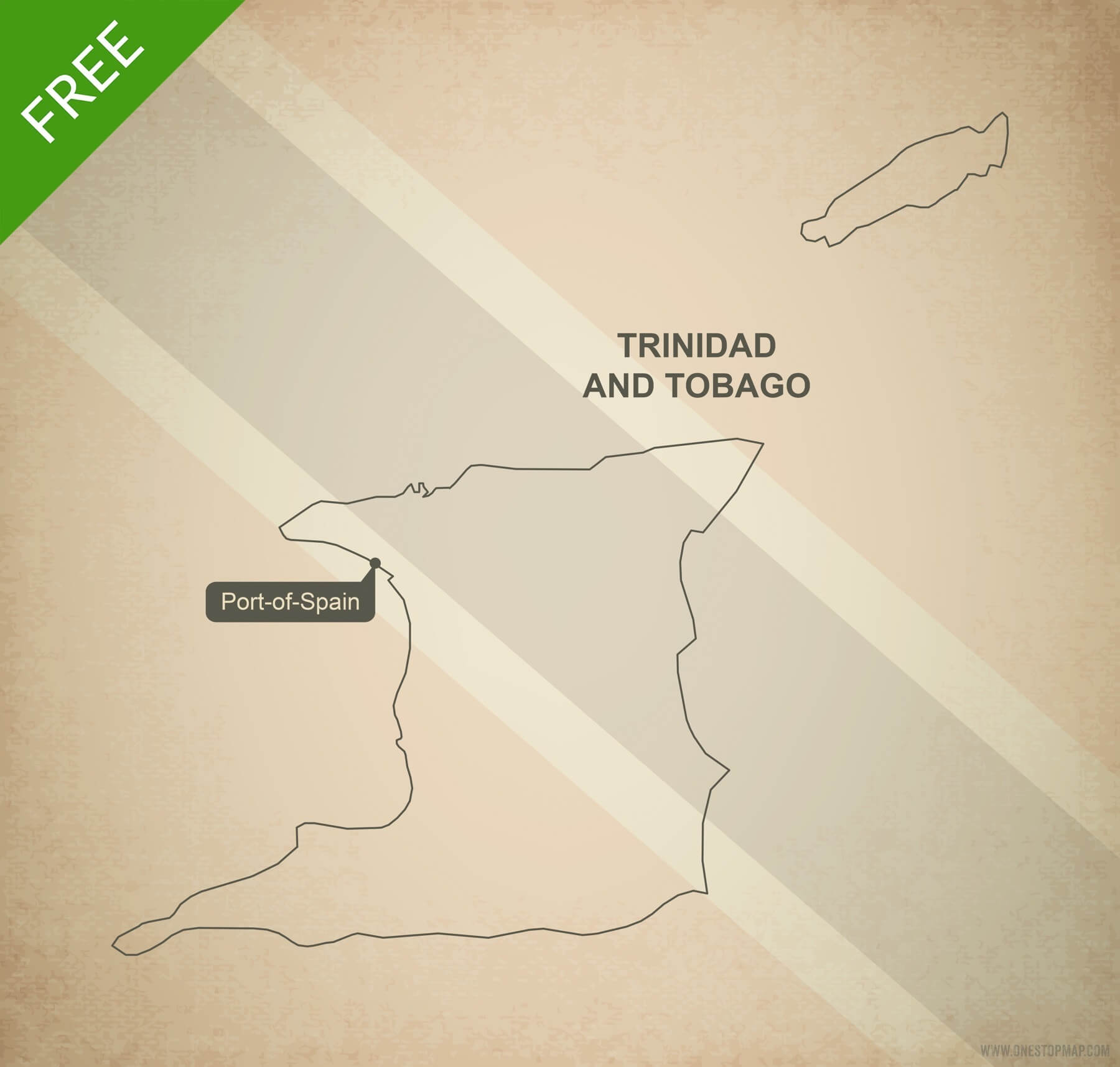 Free vector map of Trinidad and Tobago outline