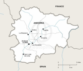 Vector map of Andorra political