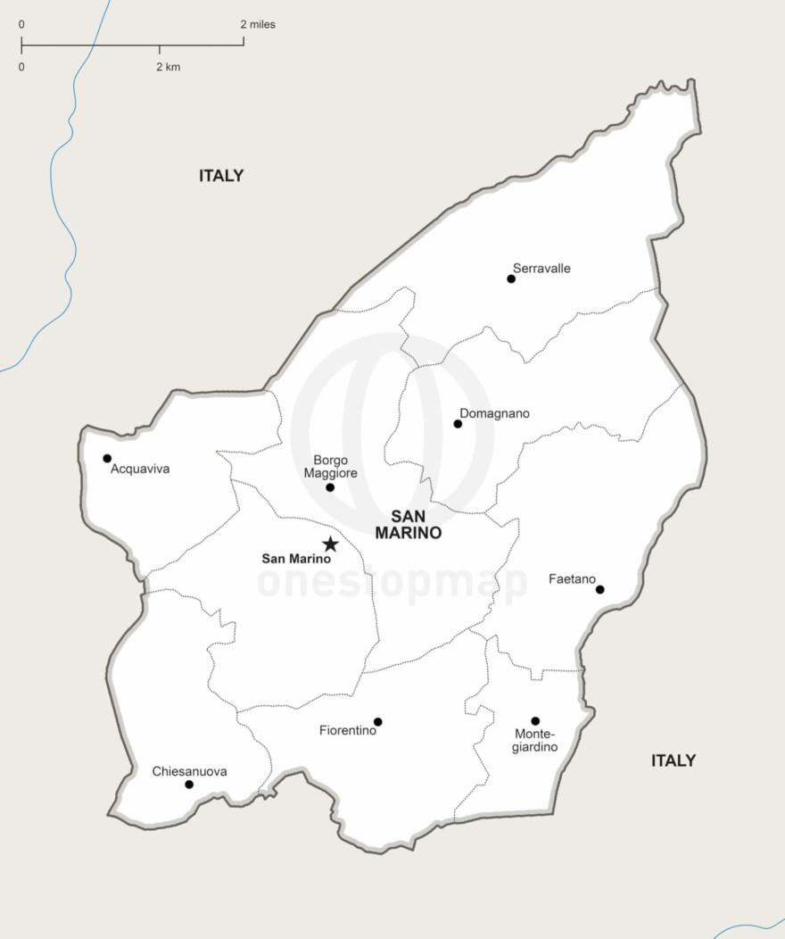 Vector map of San Marino political