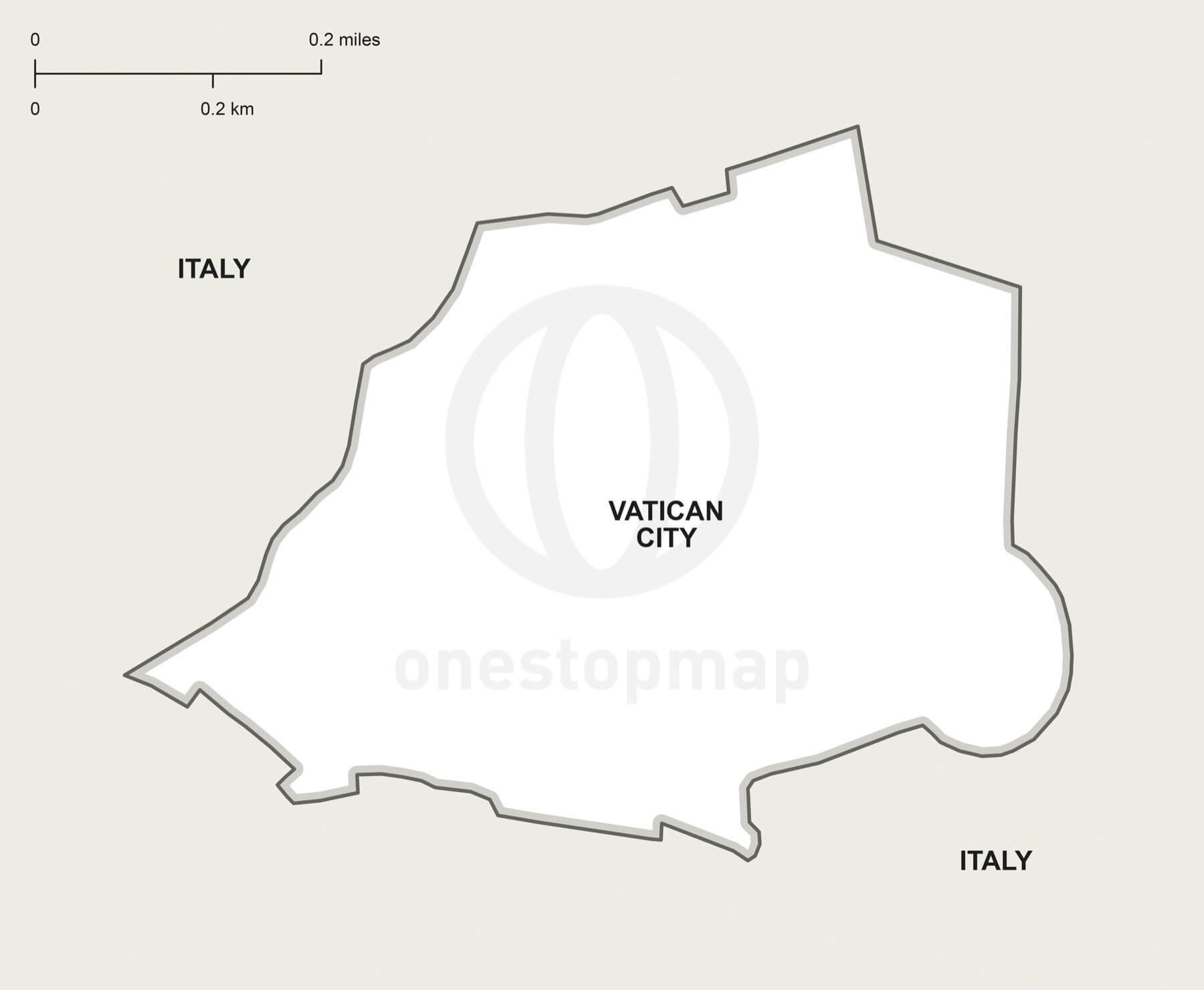 Vector map of Vatican City political