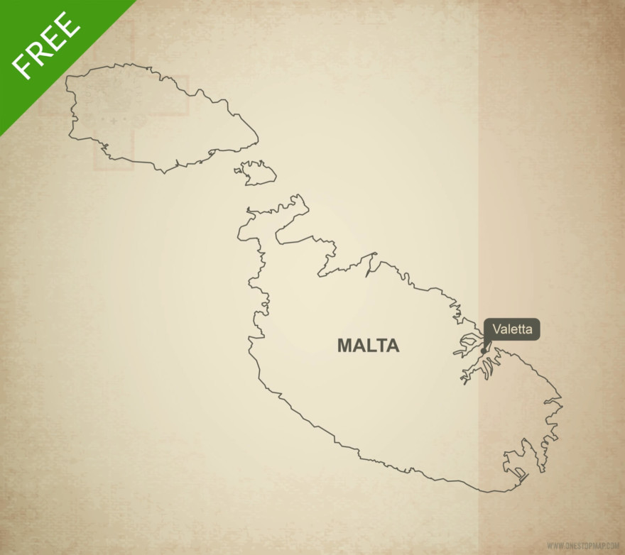 Free vector map of Malta outline