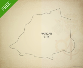 Free vector map of Vatican City outline