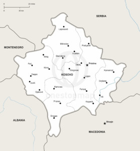 Vector Map Of Kosovo Political One Stop Map - Kosovo map hd pdf