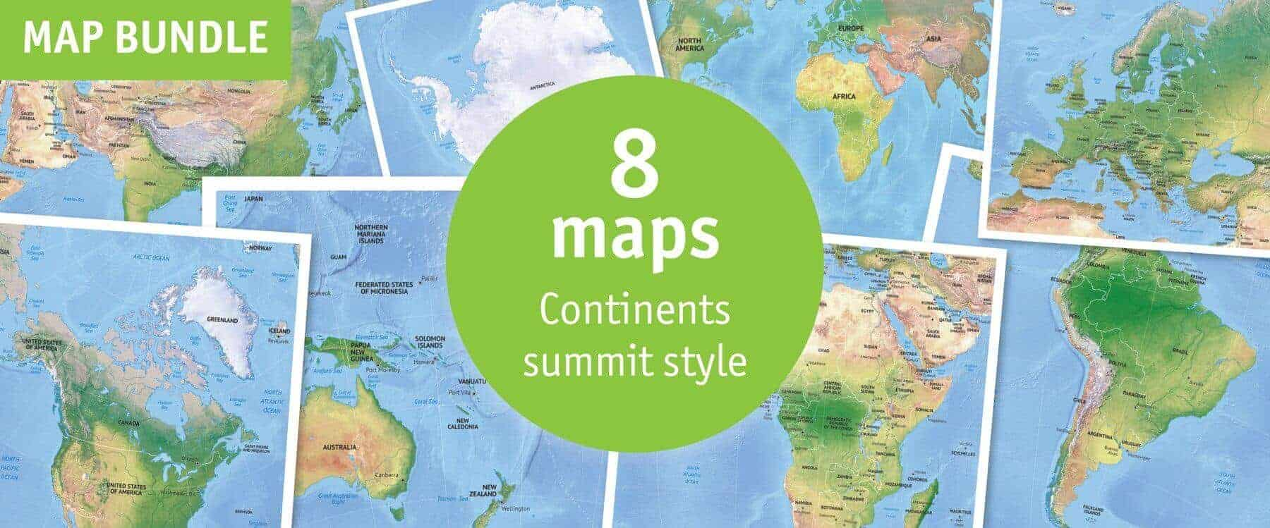 Vector map world relief continents political one stop map map bundle continents political summit style gumiabroncs