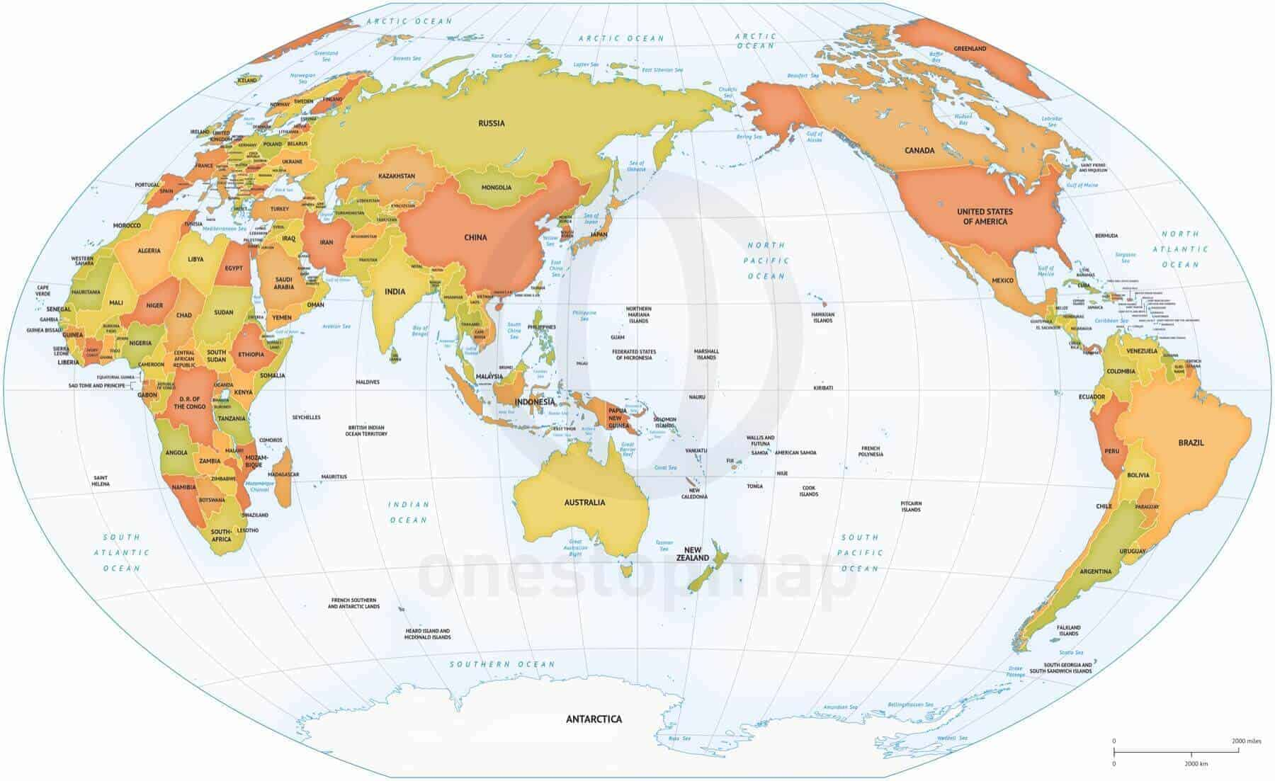 Vector Map World AsiaAustralia One Stop Map - Australia in world map
