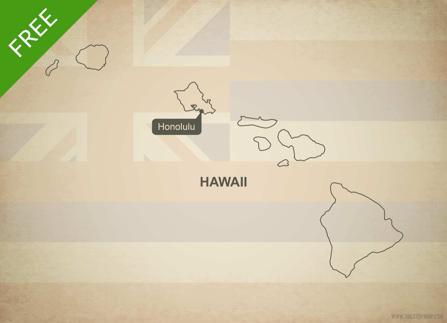 Free Blank Outline Map Of The U S State Of Hawaii