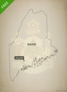 Free vector map of Maine outline One Stop Map