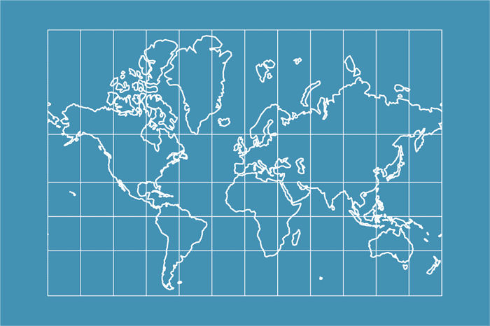 Catalog digital world maps one stop map example of a world map in mercator projection sciox Choice Image