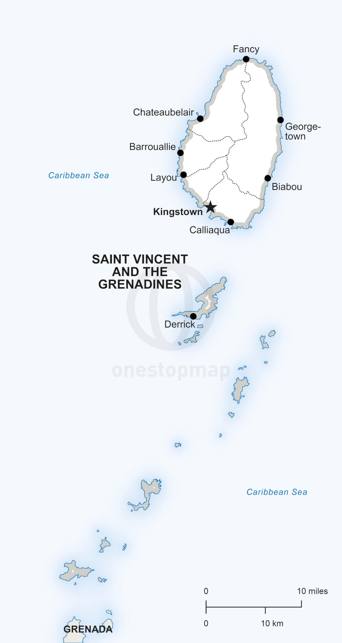 Vector Map Saint Vincent and the Grenadines One Stop Map
