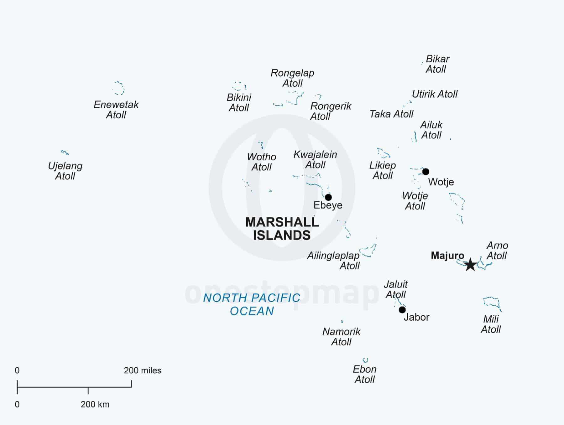 Vector Map Of Marshall Islands Political One Stop Map - Marshall islands map