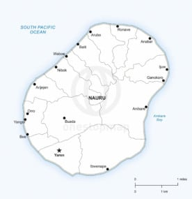 Vector map of Nauru political