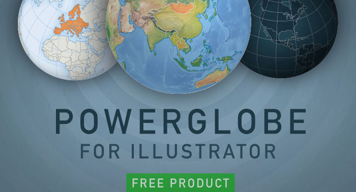 Accurate vector world map free download one stop map powerglobe for illustrator make your customized 3d vector globe of the earth in just 5 gumiabroncs Choice Image