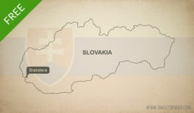 Free vector map of Slovakia outline