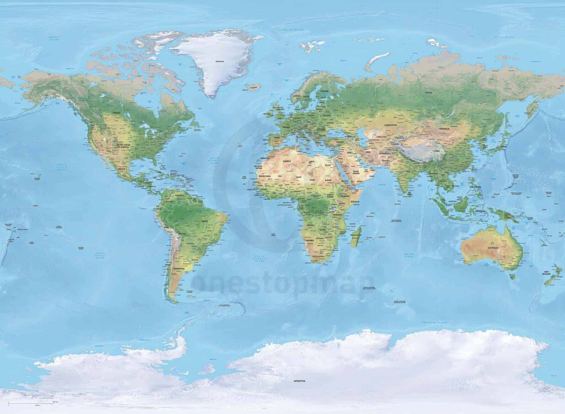 Catalog digital world maps one stop map map of world political shaded relief high detail miller europe africa centered gumiabroncs Image collections