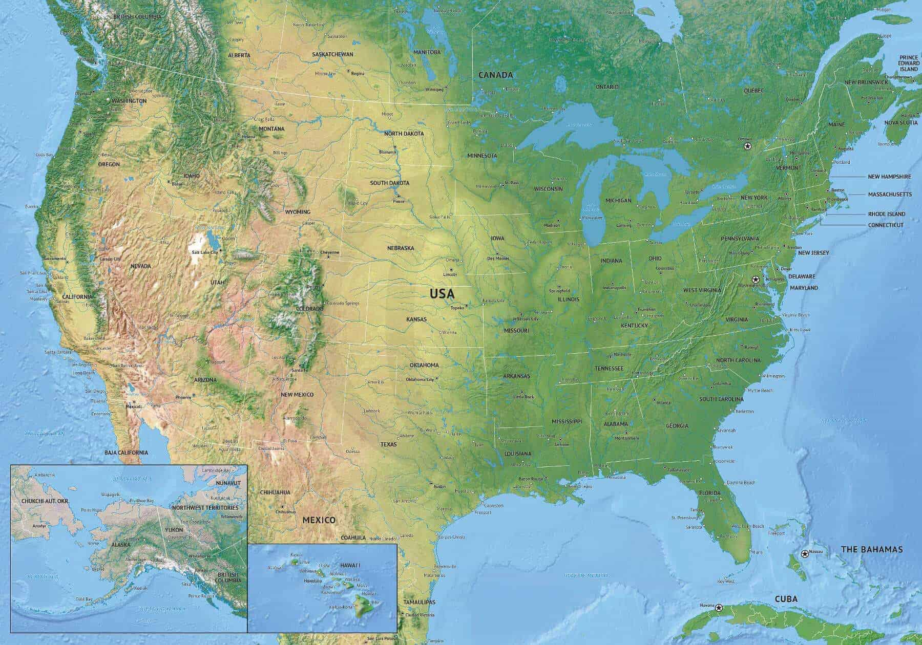Image of: Vector Map Of United States Of America One Stop Map