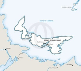 Stock vector map of Prince Edward Island