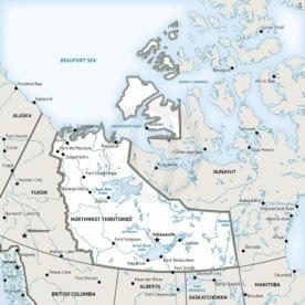 Stock vector map of Northwest Territories