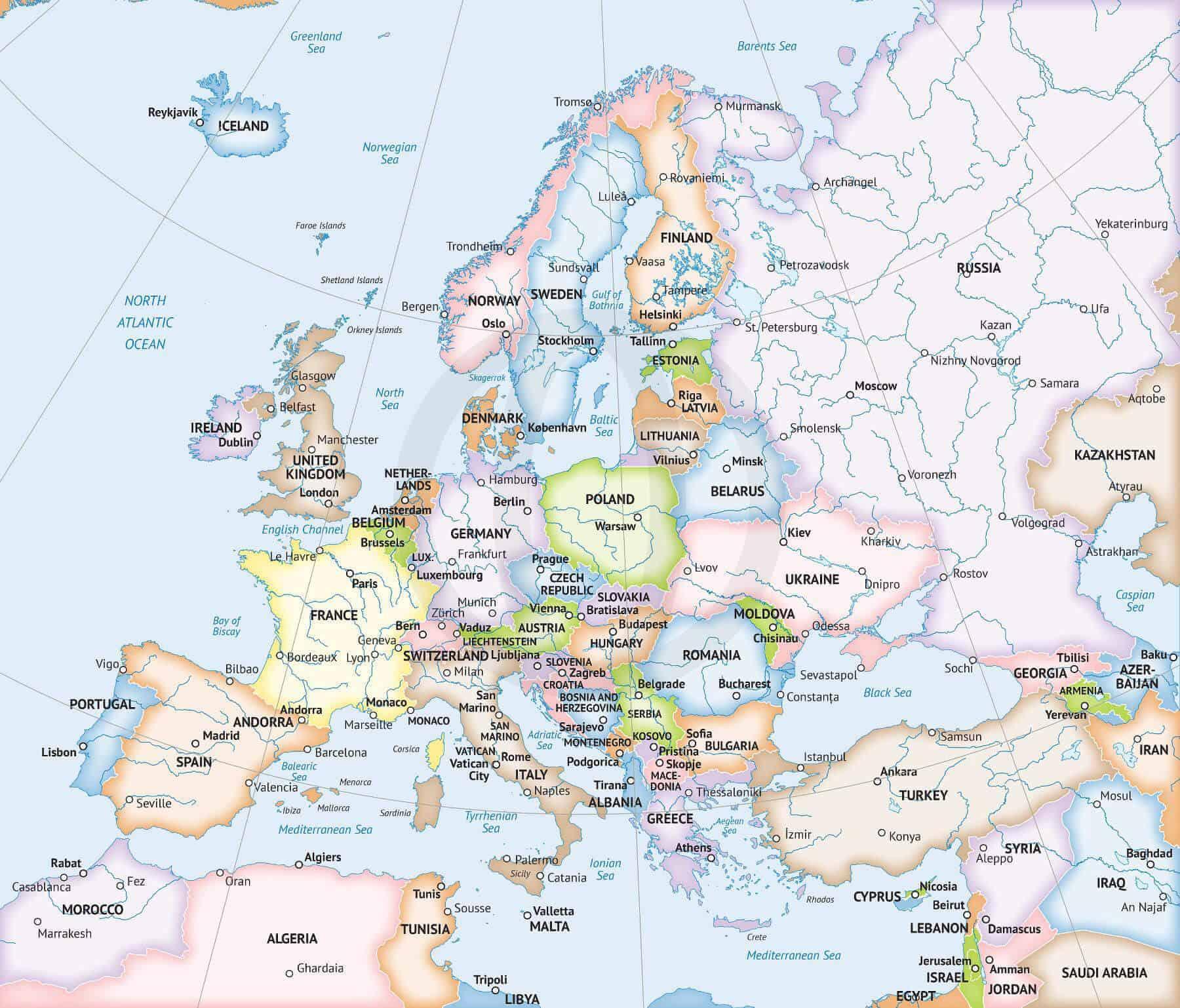 Map of Europe Formal